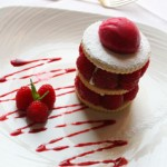 Raspberry Sable summer dessert