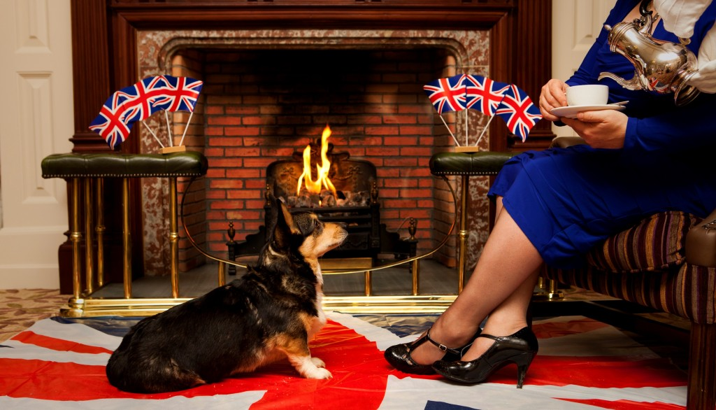 corgi queen fire jubilee afternoon tea