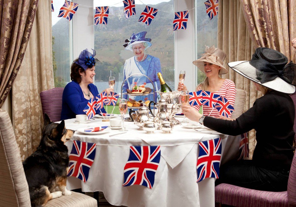 jubilee afternoon tea corgi flags queen inn on the lake
