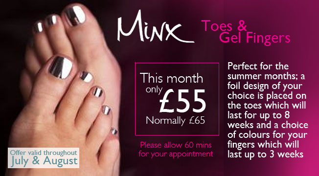 Minx Toes and Gel Nails