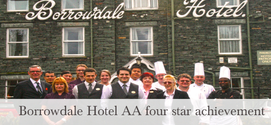 Borrowdale Hotel AA four star rating