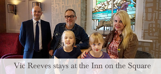 Vic Reeves stays at the Inn on the Square