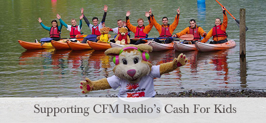 Supporting CFM Radio's Cash for Kids