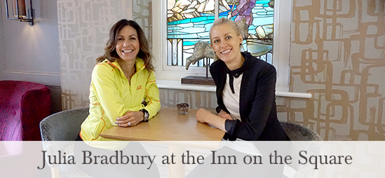 Julia Bradbury at the In on the Square