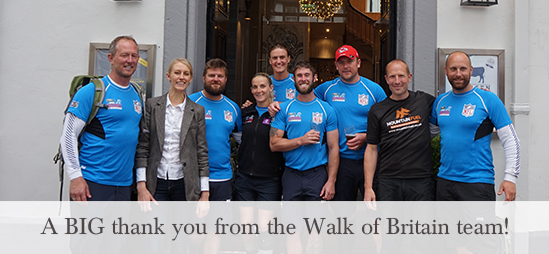 A BIG thank you from the Walk of Britain team