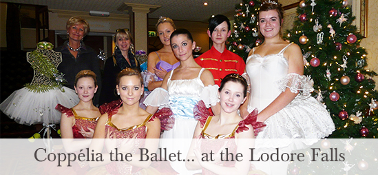 Coppélia the ballet at the Lodore Falls Hotel