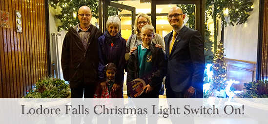 Lodore Falls Hotel Christmas Light Switch On