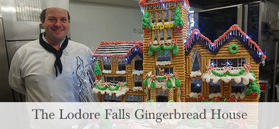 The Lodore Falls Gingerbread House