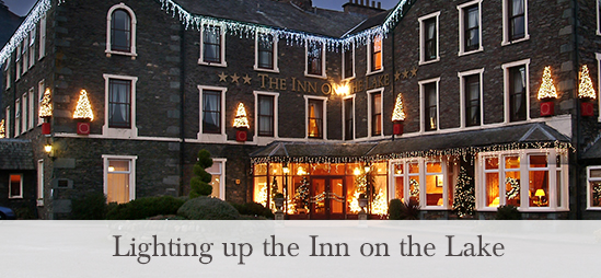 Inn on the Lake Christmas Light Switch On