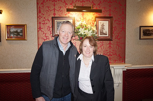 Rory Bremner and Maria Quigley
