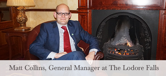 Matt Collins General Manager at the Lodore Falls Hotel