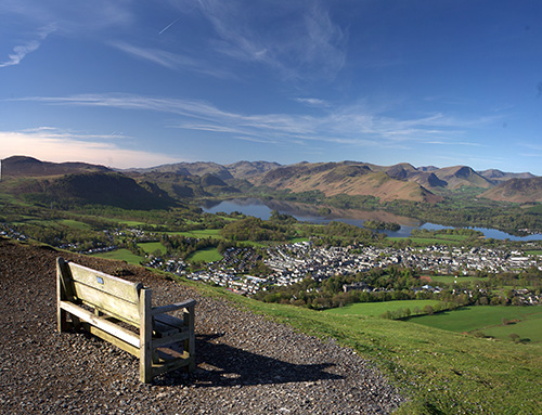 Taken from the top of Latrigg, overlooking Keswick and Derwentwater