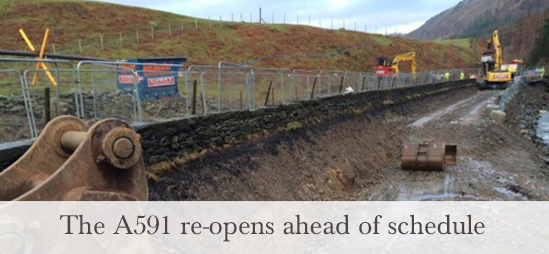 A591 re-opens ahead of schedule