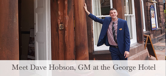 Dave Hobson, GM at the George Hotel, Penrith