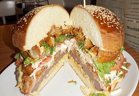National Burger day at the Kings Arms Hotel, Keswick