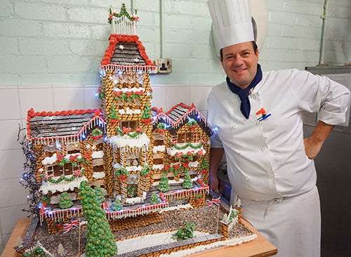 Shane Hamilton with his Gingerbread House 2015