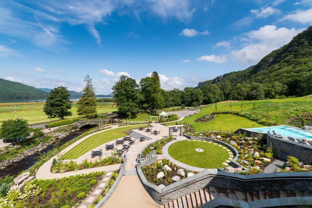 Lodore Falls Hotel and Spa gardens