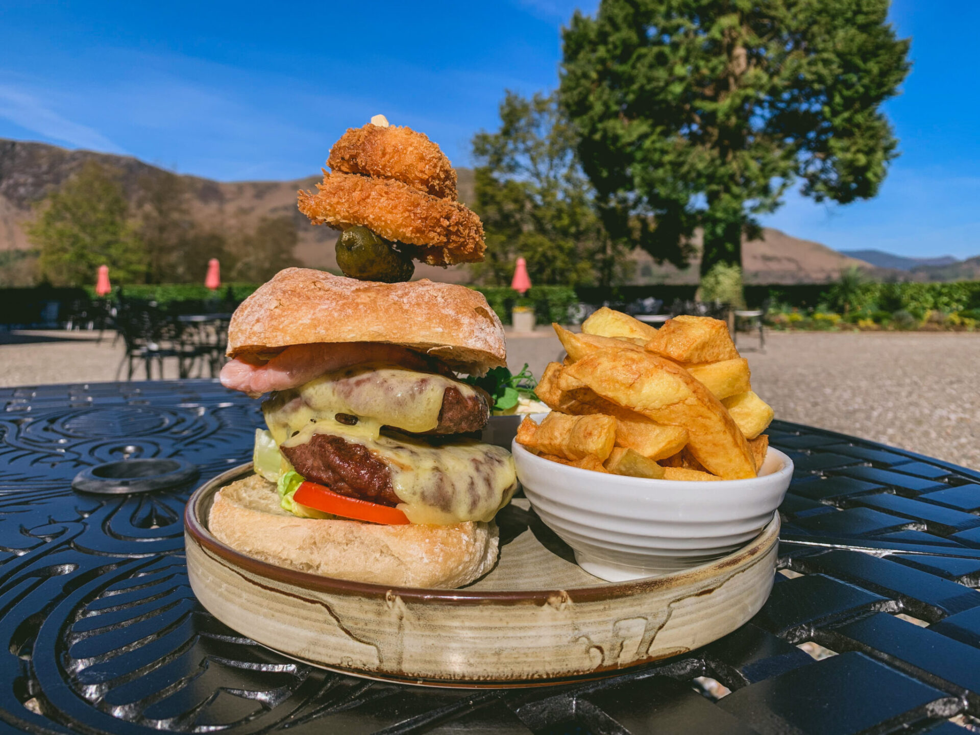 outdoor dining in the lake district