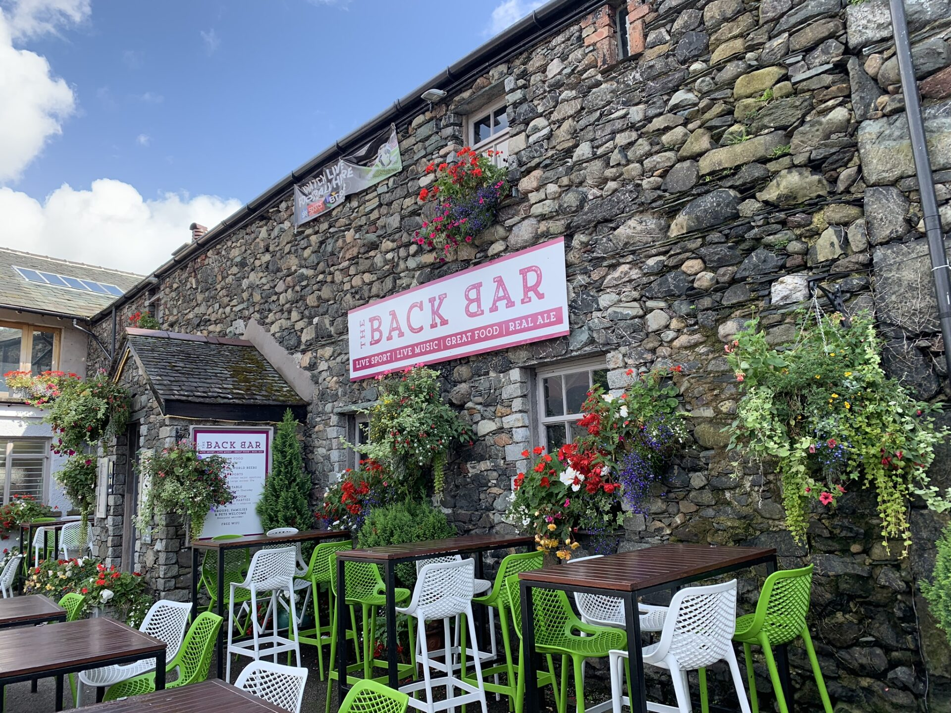 beer gardens in the Lake District
