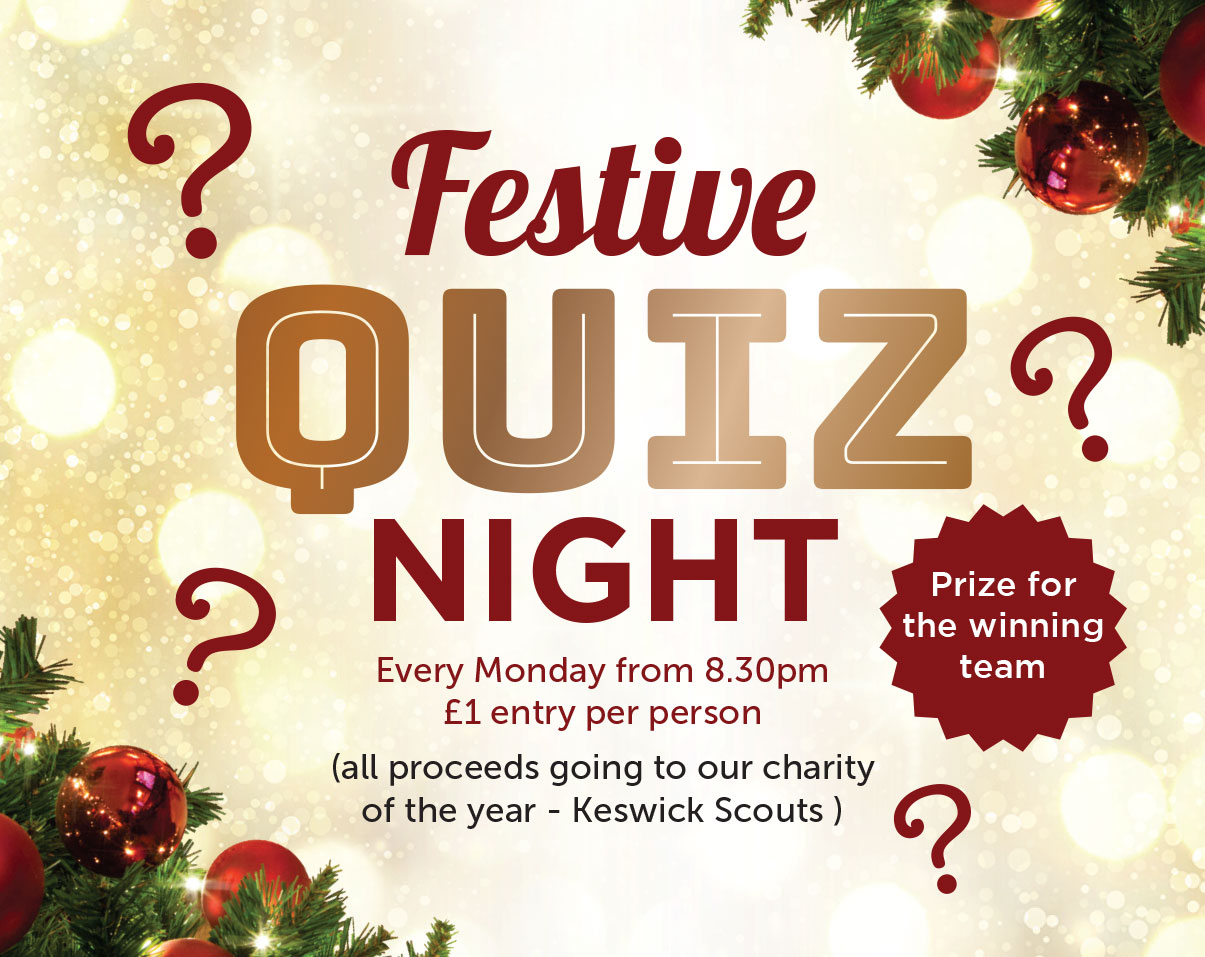 Charity Festive Quiz Night at the Skiddaw Hotel