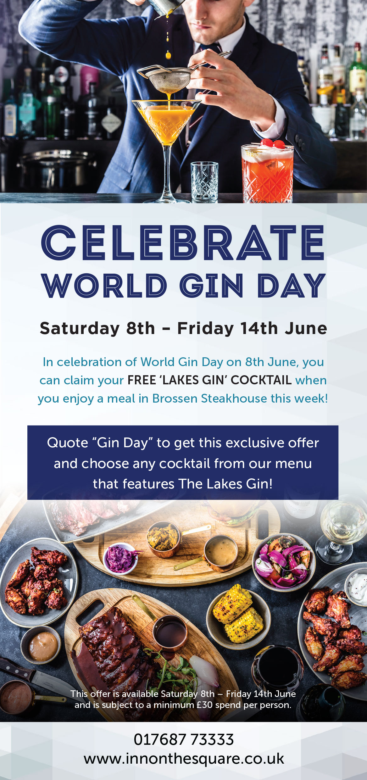 Celebrate World Gin Day with a FREE gin cocktail at Inn on the Square!