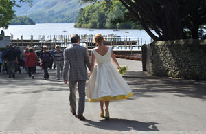 Wedding Ceremony at the Skiddaw Hotel